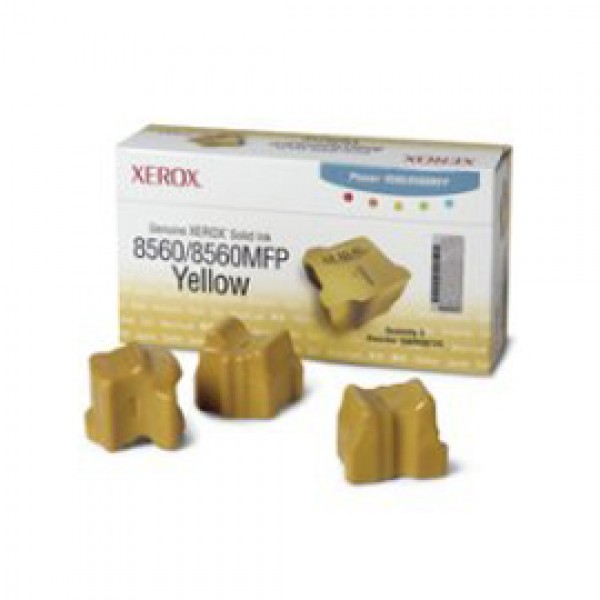 3 STICK SOLID INK GIALLO PHASER 8560